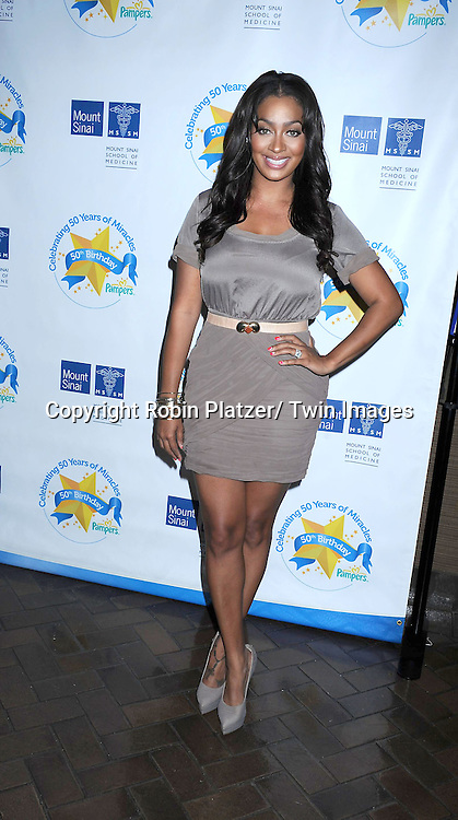 LaLa Anthony attending The Pampers Event at Mount Sinai Hospital on April 12, 2011 to kick off Little Miracle Missions, a program that supports and protects babies and their families.