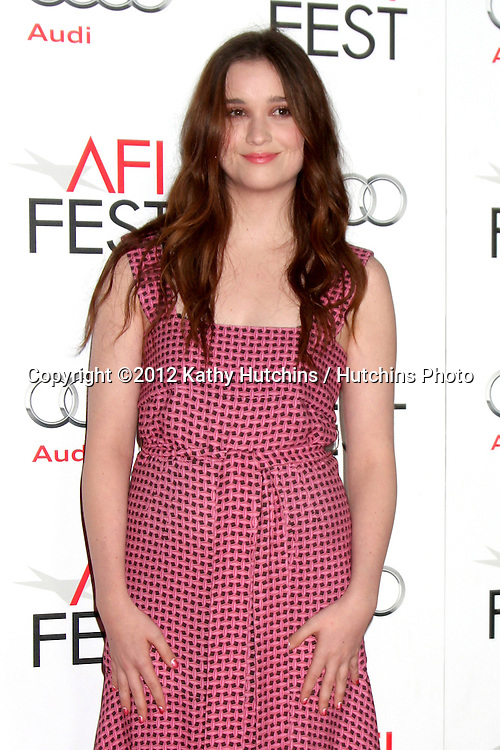 """LOS ANGELES - NOV 7:  Alice Englert arrives at the """"Ginger And Rosa"""" Special Screening at Graumans Chinese Theater on November 7, 2012 in Los Angeles, CA"""