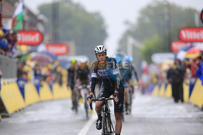 Niki Terpstra (NED) Omega Pharma-Quick Step crosses the finish line in Arenberg at the end of Stage 5 of the 2014 Tour de France running 155.5km from Ypres to Arenberg. 9th July 2014.<br /> Picture: Eoin Clarke www.newsfile.ie