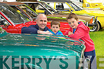 Pictured with vintage cars at Feile na Bláth at Tralee Town Park on Saturday were from left: Paul Cronin, Luke Cronin, Conor Cronin, from Tralee pictured at Feile na Bláth on Saturday.