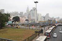SAO PAULO, SP, 21-05-2014, TERMINAIS FECHADOS. Alguns terminais de onibus amanheceram fechados nessa quarta-feira (21), na foto o terminal Pq D. Pedro, região central de São Paulo.          Luiz Guarnieri/ Brazil Photo Press.