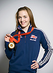 British Olympic and world champion track cyclist Victoria Pendleston, pictured at the velodrome at Sportcity in Manchester with her gold medal won at the 2008 Beijing games.