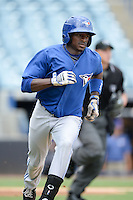 Toronto Blue Jays outfielder David Harris (7) during an Instructional League game against the New York Yankees on September 24, 2014 at George M. Steinbrenner Field in Tampa, Florida.  (Mike Janes/Four Seam Images)