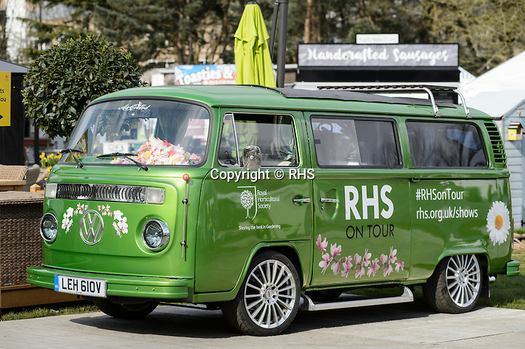 RHS Camper Van at the RHS Show Cardiff 2016.