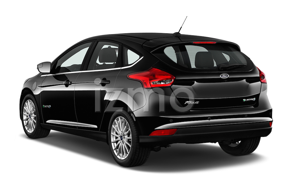 Car pictures of rear three quarter view of 2016 Ford Focus 5-Door-Hatch-Electric 5 Door Hatchback Angular Rear