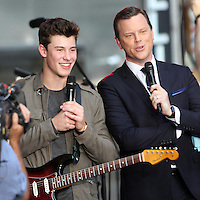 NEW YORK, NY-July 08: Willie Geist, Shawn Mendes perform on NBC's Today Show Citi Concert Series at Rockefeller Center in New York. NY July 08, 2016. Credit:RW/MediaPunch