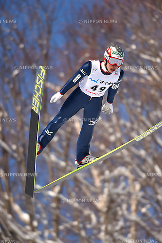 Taku Takeuchi (JPN),<br /> JANUARY 25, 2015 - Ski Jumping :<br /> FIS Ski Jumping World Cup Large Hill Individual (HS134) at Okurayama Jump Stadium in Sapporo, Hokkaido, Japan. (Photo by Hitoshi Mochizuki/AFLO)