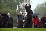 Peter Hanson playing his tee shot off the 10th during day two of the 3 Irish Open..Pic Fran Caffrey/golffile.ie