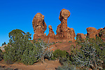 Strange rock formations in Arches National Park, Utah, USA