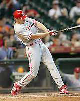 Phillies OF TJ Bohn on Sunday May 25th at Minute Maid Park in Houston, Texas. Photo by Andrew Woolley / Four Seam Images..