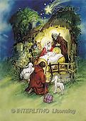 Interlitho, CHRISTMAS SANTA, SNOWMAN, nostalgic, paintings, Holy Family, shepherds(KL2341/3,#X#) Weihnachten, nostalgisch, Navidad, nostálgico, illustrations, pinturas
