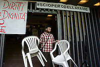 ROME, ITALY - MAY 10: 20 militants of Action, occupants of thouse, starting a hunger strike to receive answers about the problem of housing and the risk of evictions
