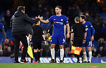 Chelsea Manager Antonio Conte shakes hands with Danny Drinkwater of Chelsea at the end of the premier league match at Stamford Bridge Stadium, London. Picture date 30th December 2017. Picture credit should read: Robin Parker/Sportimage