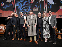 """HOLLYWOOD - MAY 29: Co-Creator/Executive Producer/Writer Kurt Sutter, Co-Creator/Executive Producer/Writer/Director Elgin James, and cast members JD Pardo, Clayton Cardenas, Edward James Olmos, Sarah Bolger, and Danny Pino attend the FYC event for FX's """"Mayans M.C."""" at Neuehouse Hollywood on May 29, 2019 in Hollywood, California. (Photo by Frank Micelotta/FX/PictureGroup)"""