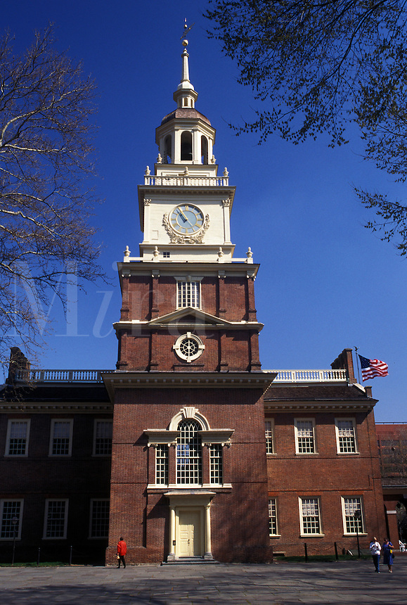 Independence Hall, Philadelphia, Pennsylvania, PA, Independence Hall at Independence National Historical Park in downtown Philadelphia.