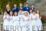 Loughquittane NS pupils who received their First Holy Communion in the Church of the Holy Spirit Muckross on Saturday front row l-r: Ciara Lawlor, Eva O'Shea, Zoe Counihan, Kate Healy, Caitlin O'Brien, Jenna Coffey, Kiera Moynihan and Roisin McAulliffe. Back row: Miss Fitzgerald, Marie Joy, Daithi O'Donoghue Jeremy Brosnan and Liam O'Brien