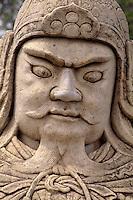China, bei Peking (Beijing) Minggräber, Geisterallee, Statue eines Militärmandarin, Unesco-Weltkulturerbe