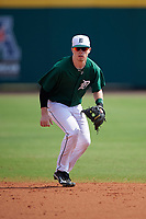 Dartmouth Big Green second baseman Sean Sullivan (4) during practice before a game against the South Florida Bulls on March 27, 2016 at USF Baseball Stadium in Tampa, Florida.  South Florida defeated Dartmouth 4-0.  (Mike Janes/Four Seam Images)