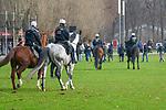 14.01.2018, RheinEnergieStadion, Koeln, GER, 1.FBL., 1. FC K&ouml;ln vs. Borussia M&ouml;nchengladbach<br /> <br /> im Bild / picture shows: <br /> heute ist ein Hochsicherheitsspiel die Gladbacher Fans werden schon vom Bahnhof aus von der Polizei begleitet. <br /> <br /> <br /> Foto &copy; nordphoto / Meuter