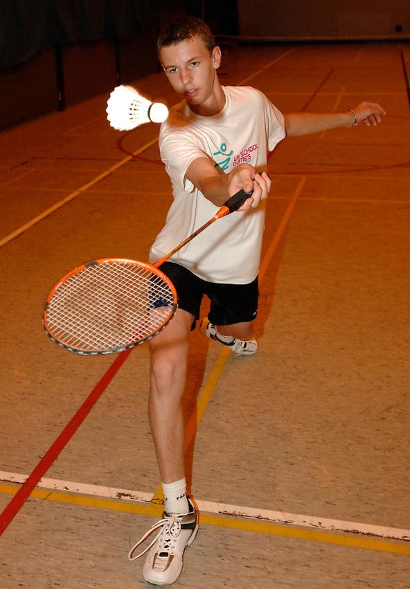 Photo: Richard Lane/Richard Lane Photography..UK Schools Games Press Conference, Coventry. 25/07/2007. .England schools badminton player, Chris Coles.