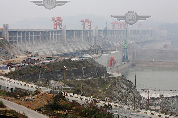 A view of the Three Gorges Dam near Yichang.