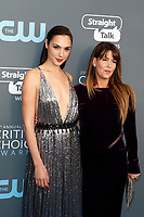Gal Gadot (L) and Patty Jenkins attend  the 23rd Annual Critics' Choice Awards at Barker Hangar in Santa Monica, Los Angeles, USA, on 11 January 2018. - NO WIRE SERVICE - Photo: Hubert Boesl/dpa /MediaPunch ***FOR USA ONLY***
