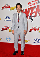 Paul Rudd at the premiere for &quot;Ant-Man and the Wasp&quot; at the El Capitan Theatre, Los Angeles, USA 25 June 2018<br /> Picture: Paul Smith/Featureflash/SilverHub 0208 004 5359 sales@silverhubmedia.com