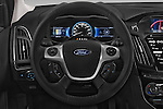 Car pictures of steering wheel view of a 2014 Ford FOCUS 5P 107kW Electric 142 ch 5 Door Hatchback 2WD Steering Wheel