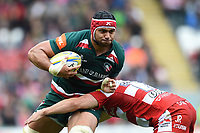 Sione Kalamafoni of Leicester Tigers in possession. Aviva Premiership match, between Leicester Tigers and Gloucester Rugby on September 16, 2017 at Welford Road in Leicester, England. Photo by: Patrick Khachfe / JMP