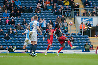 BLACKBURN, ENGLAND - JANUARY 24:  Bafetibis Gomis of Swansea City keeps the ball up  during the FA Cup Fourth Round match between Blackburn Rovers and Swansea City at Ewood park on January 24, 2015 in Blackburn, England.  (Photo by Athena Pictures/Getty Images)