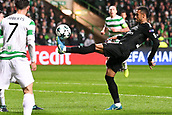 12th September 2017, Glasgow, Scotland; Champions League football, Glasgow Celtic versus Paris Saint Germain;   NEYMAR JR (psg) controls a high ball