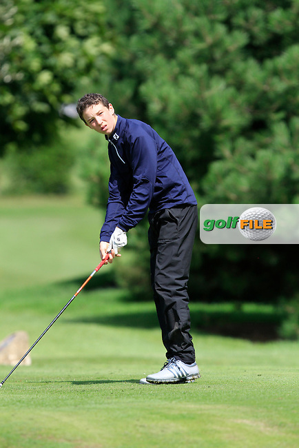 Sean Doyle (Black Bush) on the 11th tee during the Irish Boys Under 13 Amateur Open Championship in Malahide Golf Club on Monday 11th August 2014.<br /> Picture:  Thos Caffrey / www.golffile.ie