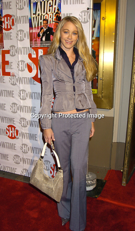 "Christine Taylor ..at the Broadway Opening of "" Mario Cantone: Laugh Whore""  on October 24, 2004 at the Cort Theatre. ..Photo by Robin Platzer, Twin Images .."