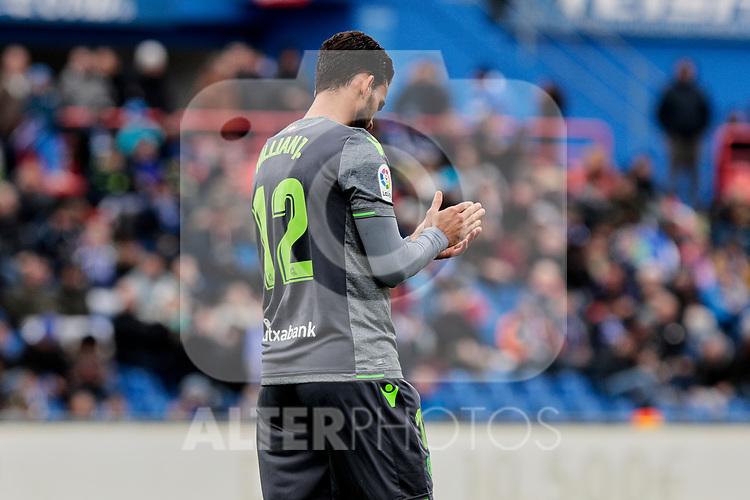 Real Sociedad's Willian Jose Da Silva during La Liga match between Getafe CF and Real Sociedad at Coliseum Alfonso Perez in Getafe, Spain. December 15, 2018. (ALTERPHOTOS/A. Perez Meca)