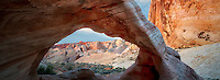 White Arch with moon. Valley of Fire State Park, Nevada