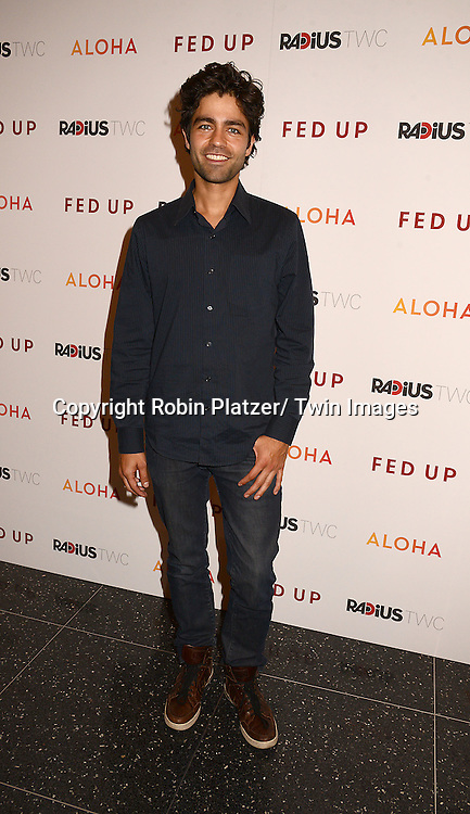 "Adrian Grenier attends the New York Premiere of ""FED UP"" on May 6, 2014 at The Museum of Modern Art in New York City."
