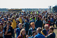 The place for off-loading the buses at the camp-site. This is the first contact the participants get from the actual camp-site. Photo: Kim Rask/Scouterna
