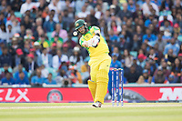 Glenn Maxwell (Australia) pulls a short delivery from Jasprit Bumrah (India) to the wide mid wicket boundary for four during India vs Australia, ICC World Cup Cricket at The Oval on 9th June 2019