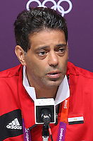 Hampden Park, Glasgow match venue for Football at London 2012...Hany Ramzy, Coach Egyptian Mens Football Team at the Press Conference.........