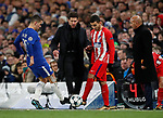 Diego Simeone manager of Atletico Madrid tries to get the ball back in play during the Champions League Group C match at the Stamford Bridge, London. Picture date: December 5th 2017. Picture credit should read: David Klein/Sportimage