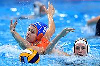 5 NED WOLVES Iris Netherlands, 12 GER KRUKENBERG Lynn Germany  <br /> Budapest 13/01/2020 Duna Arena <br /> GERMANY (white caps) Vs. NETHERLANDS (blue caps)<br /> XXXIV LEN European Water Polo Championships 2020<br /> Photo  © Andrea Staccioli / Deepbluemedia / Insidefoto