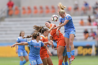 Houston, TX - Saturday April 15, 2017: Cari Roccaro, Alyssa Mautz during a regular season National Women's Soccer League (NWSL) match between the Houston Dash and the Chicago Red Stars at BBVA Compass Stadium.