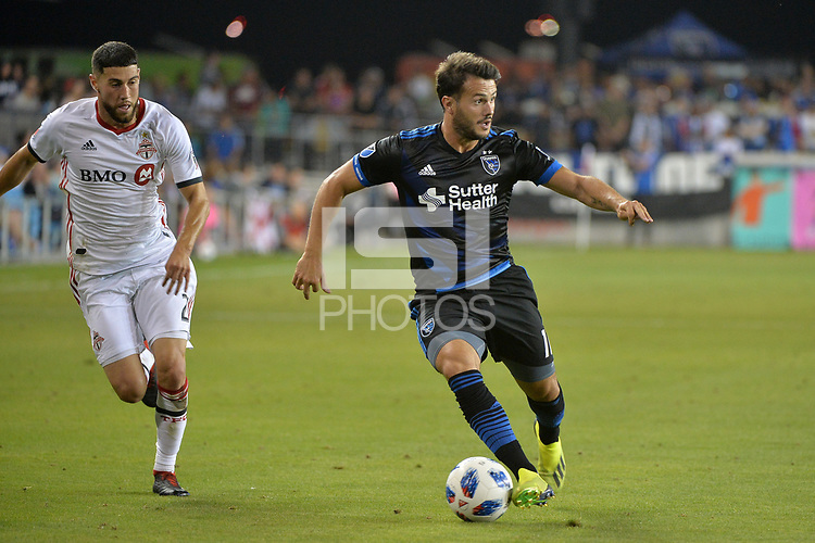 San Jose, CA - Saturday August 18, 2018: Vako during a Major League Soccer (MLS) match between the San Jose Earthquakes and Toronto FC at Avaya Stadium.