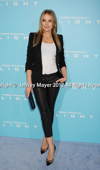 HOLLYWOOD, CA - OCTOBER 23: Bar Paly arrives at the 'Flight' - Los Angeles Premiere at ArcLight Cinemas on October 23, 2012 in Hollywood, California.