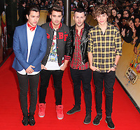 Union J at M&M's World in Leicester Square