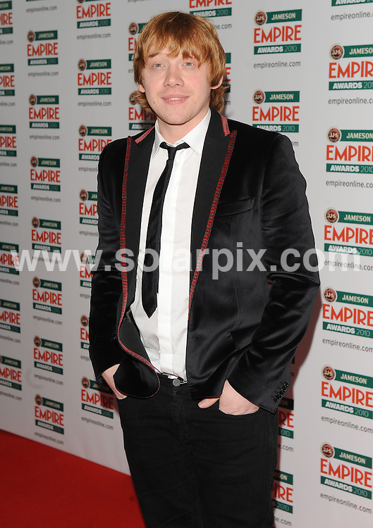 **ALL ROUND PICTURES FROM SOLARPIX.COM**.**WORLDWIDE SYNDICATION RIGHTS**.Red carpet arrivals at the Jameson Empire Awards 2010. Held at Grosvenor House, Mayfair, London, UK. 28 March 2010..This pic: Rupert Grint..JOB REF: 10995 SSD    DATE: 28_03_2010.**MUST CREDIT SOLARPIX.COM OR DOUBLE FEE WILL BE CHARGED**.**MUST NOTIFY SOLARPIX OF ONLINE USAGE**.**CALL US ON: +34 952 811 768 or LOW RATE FROM UK 0844 617 7637**