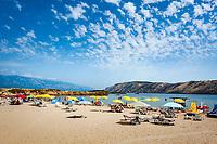 Croatia, Kvarner Gulf, Rab Island, Lopar: Paradiso Beach | Kroatien, Kvarner Bucht, Insel Rab, Lopar: Paradiso Beach