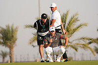 Sergio Garcia (ESP) and Brooks Koepka (USA) on the 11th during Round 2 of the Saudi International at the Royal Greens Golf and Country Club, King Abdullah Economic City, Saudi Arabia. 31/01/2020<br /> Picture: Golffile | Thos Caffrey<br /> <br /> <br /> All photo usage must carry mandatory copyright credit (© Golffile | Thos Caffrey)