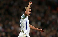 Harry Kane of England celebrates scoring his side's first goal <br /> <br /> Photographer Rob Newell/CameraSport<br /> <br /> FIFA World Cup Qualifying - European Region - Group F - England v Slovenia - Thursday 5th October 2017 - Wembley Stadium - London<br /> <br /> World Copyright &copy; 2017 CameraSport. All rights reserved. 43 Linden Ave. Countesthorpe. Leicester. England. LE8 5PG - Tel: +44 (0) 116 277 4147 - admin@camerasport.com - www.camerasport.com