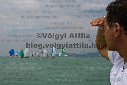 41st Blue Ribbon Regattta race along the 160 km course around Lake Balaton near Balatonfured, 150 km (93 miles) west of Budapest. Hungary. Friday, 03. July 2009. ATTILA VOLGYI